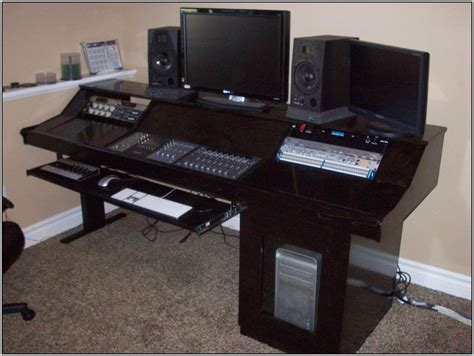 Recording Studio Desk Ideas Desk Home Design Ideas Recording Studio Computer Desk