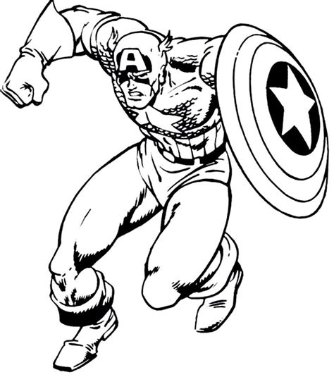 american coloring book captain america coloring page free coloring pages