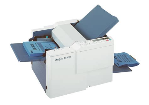 Paper Tri Fold Machine - duplo df 920 paper folder feeding and finishing xerox