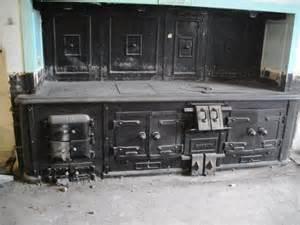 antique magnificent carron cast iron kitchen stove range