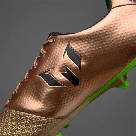 Sepatu Soccer Adidas Messi 16 Biru Hitam Fg Grade Ori Import sepatu bola adidas original messi 16 2 fg copper metallic black solar green