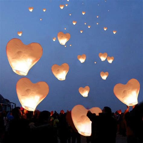 Make Flying Paper Lanterns - 20 white paper lanterns sky fly candle ls