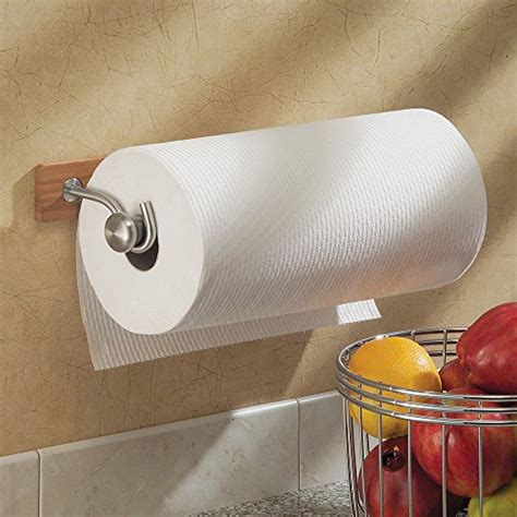 Interdesign Formbu Wallmount Paper Towel Holder Bamboo Paper Towel Holder Inside Cabinet