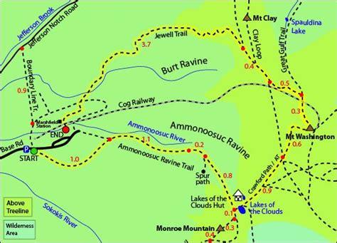 Engginer Monting Rr New X Trail mount washington map ammonoosuc ravine trail mt washington cog railway jewell trail