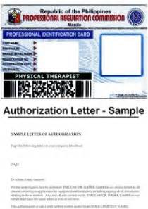 Authorization Letter Format For Prc letter to claim professional license example of authorization letter