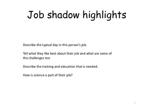 Thank You Letter Shadow Experience Exle Career Portfolio