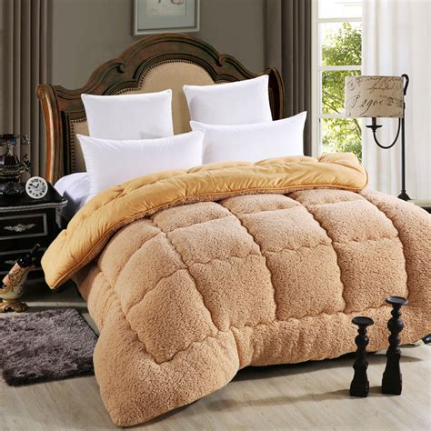 warmest comforter material wool and cotton fabric blending and filling warm silky
