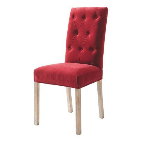 chaise capitonn 233 e en velours et bois elizabeth