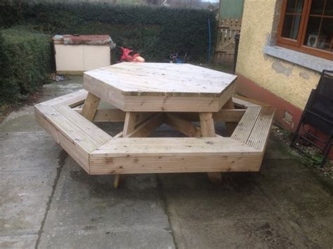 hexagon bench hexagon bench for sale in gorey wexford from anto d s