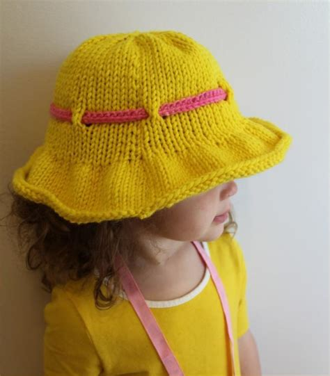 knitting pattern youth hat cute knitted sun hats for babies