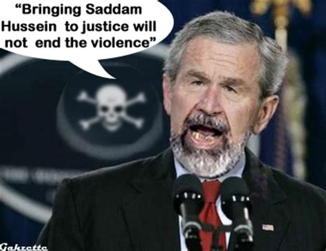 george w bush shocked saddam hussein didn t believe he would invade gahzette please don t kill me
