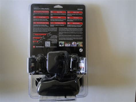 Motorola Mh230 motorola mh230r 23 mile talkabout 2 way radios