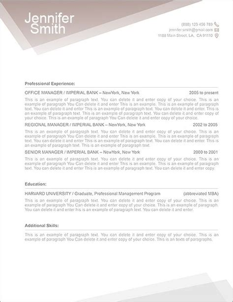 Resume Cover Letter Template Mac Free Resume Template 1100010 Premium Line Of Resume Cover Letter Templates Edit With Ms