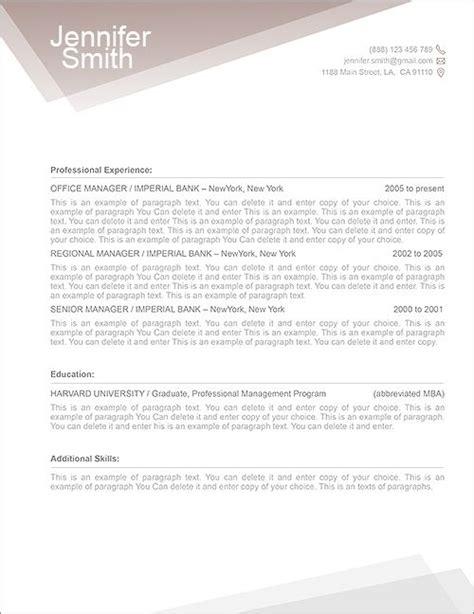 free resume template 1100010 premium line of resume