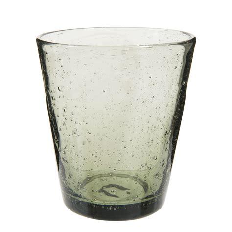 maison du monde bicchieri bicchiere grigio a bolle in vetro maisons du monde