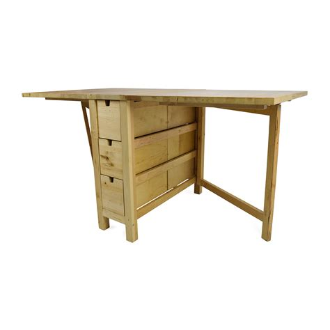 72% OFF   IKEA IKEA Foldable Kitchen Table and Desk / Tables