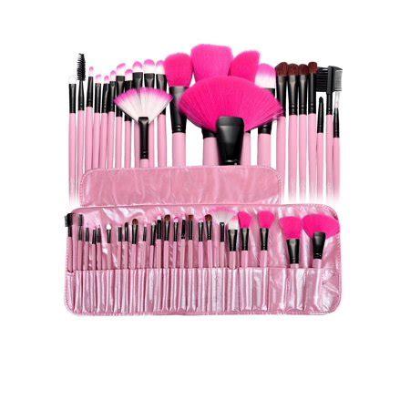 24pcs makeup brush set kit + cosmetic makeup case pouch