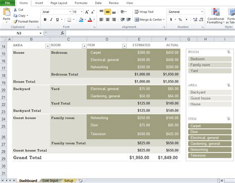 renovation software free free home renovation budget template excel tmp