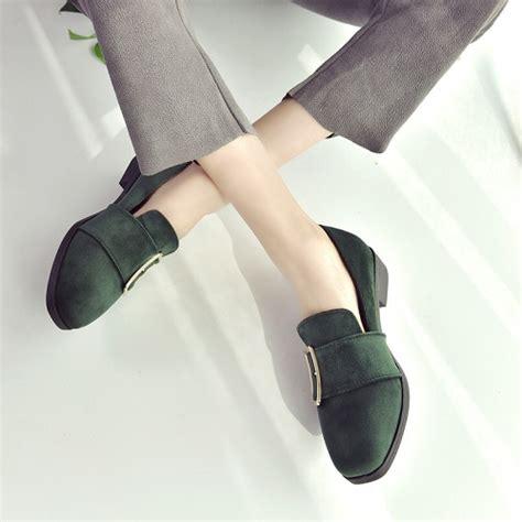 Sepatu Flat Wanita Suede jual shs668 green sepatu suede casual wanita grosirimpor