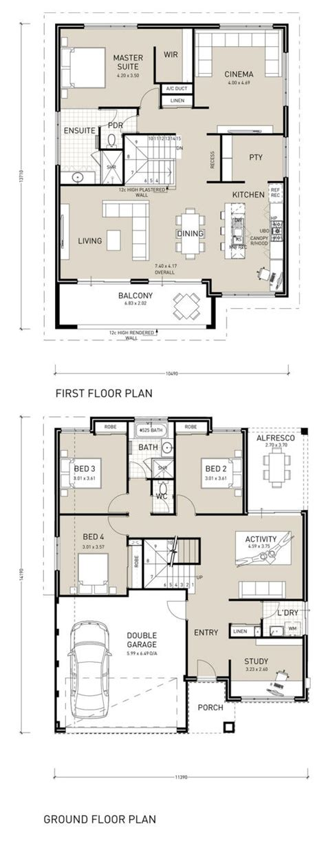 upside down house floor plans upside down living home design double storey design