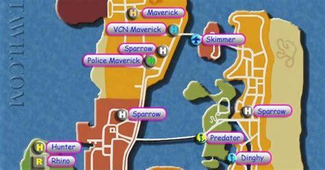 cara naik pesawat gta vice city peta tempat tank boat pesawat dan helikopter di gta vice