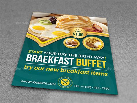 Restaurant Advertising Bundle Vol 5 By Owpictures Graphicriver Breakfast Flyer Template
