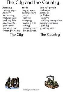 the town the city vocabulary activities esl resources