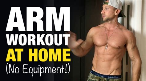arm workout at home for bigger biceps triceps no