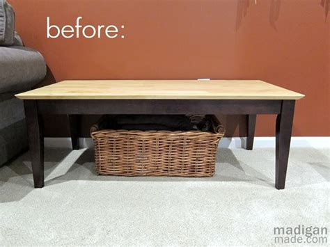 how to make a coffee table into an ottoman making an upholstered bench from a coffee table diy