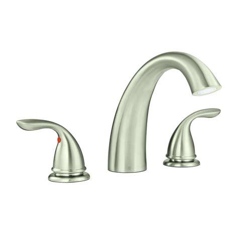 glacier bay bathtub faucets glacier bay builders 2 handle deck mount roman tub faucet
