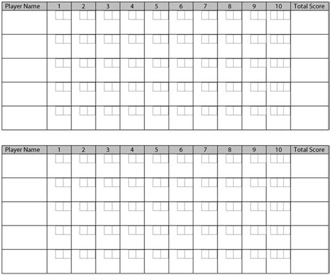bowling score sheet template printable bowling score sheets pictures projects to try