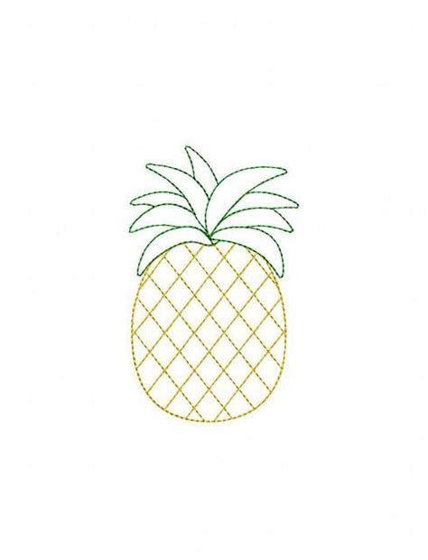 pineapple color pineapple color work embroidery design pineapple