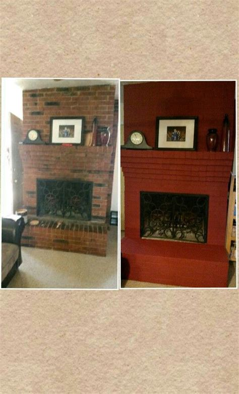 Painted Fireplaces Before And After by Before And After Painted Fireplace Home