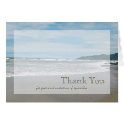 thank you letter sympathy gift sympathy thank you note card zazzle