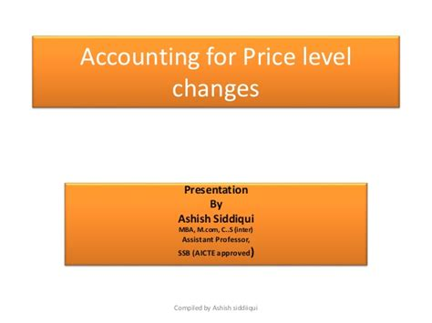 Mcom Mba Linkedin by Accounting For Price Level Changes