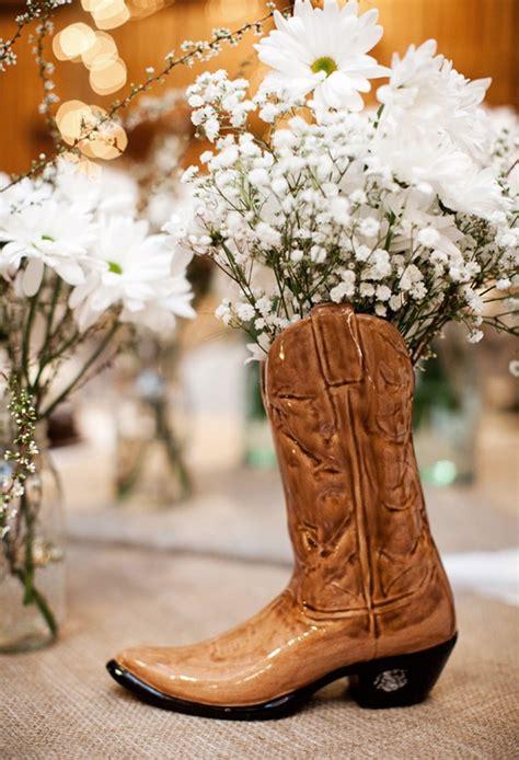 Cowboy Boot Vase Wedding Decorations cowboy boot wedding centerpieces and western wedding how