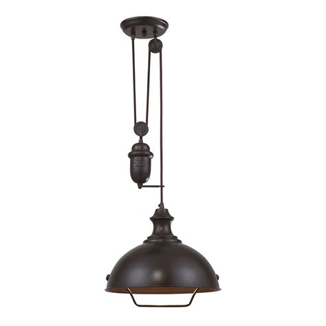 elk lighting farmhouse oiled bronze pendant on sale