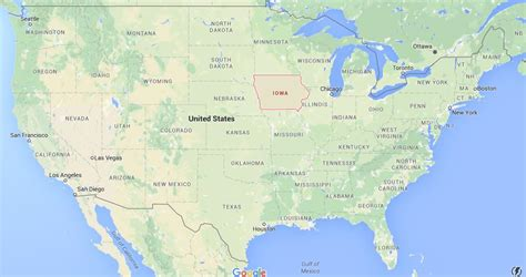 map usa iowa where is iowa on map usa