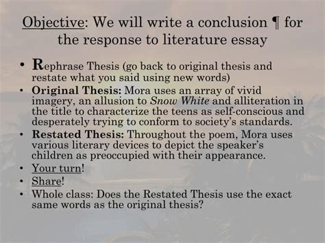 Response To Literature Essay by Ppt Response To Literature Essay Powerpoint Presentation Id 2229801