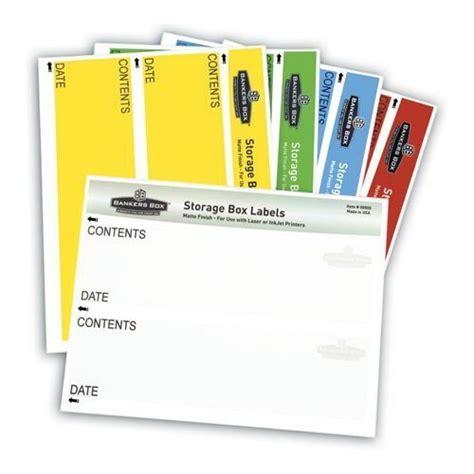 Fel0027101 Banker S Box Storage Box Label Cd Windows Bankers Box Storage Box Labels Template
