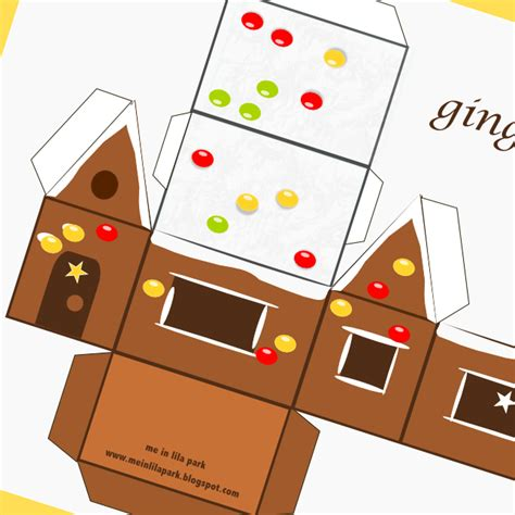 gingerbread house card template free printable gingerbread house ausdruckbares