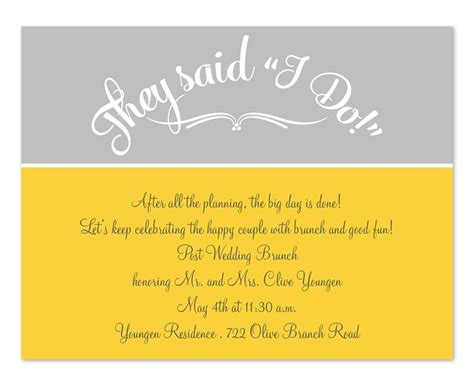 post wedding reception wording exles invitation wording post wedding reception images