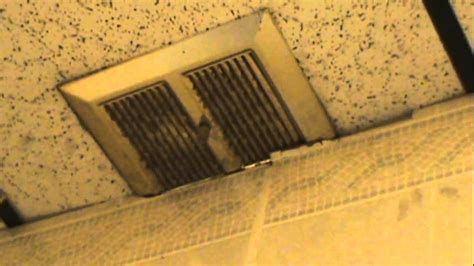 how to remove a nutone bathroom fan messed up nutone bathroom exhaust fan at weak power youtube
