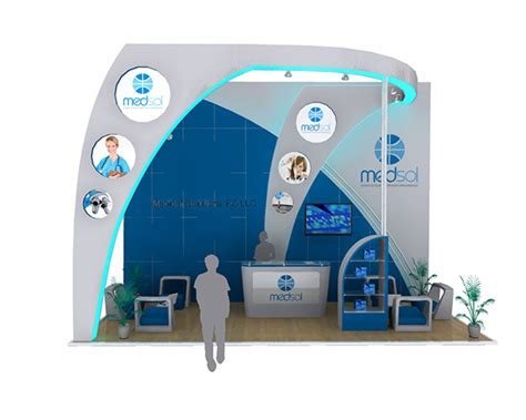 booth layout en francais medsol exhibition booth design on behance