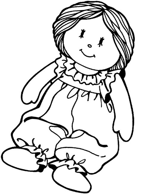 Doll Coloring Page other stuff to color