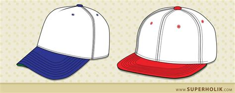 Hat Template Vector Free Download Snapback Design Template
