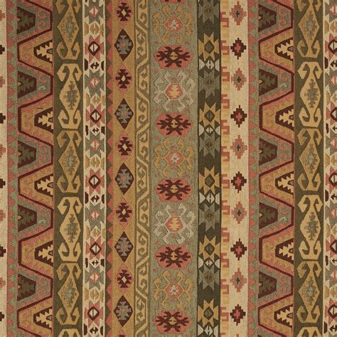 Southern Upholstery by Green Mint Olive Beige And Coral Aztec Cabin Southern