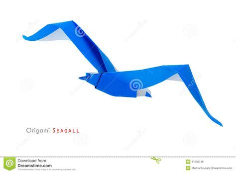 origami gabbiano gabbiano di origami fotografia stock immagine 41539748