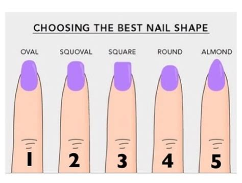 Your Nail Type by Different Types Of Nail Shapes Nails