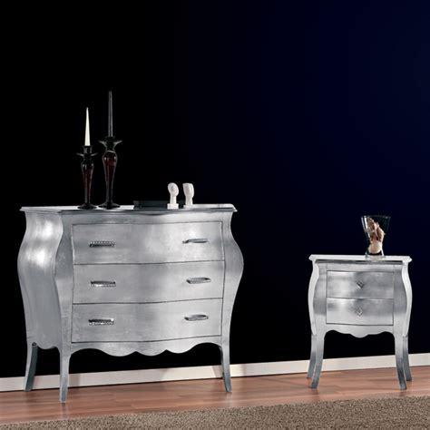 comodino argento comodino con foglia argento vostro 2108